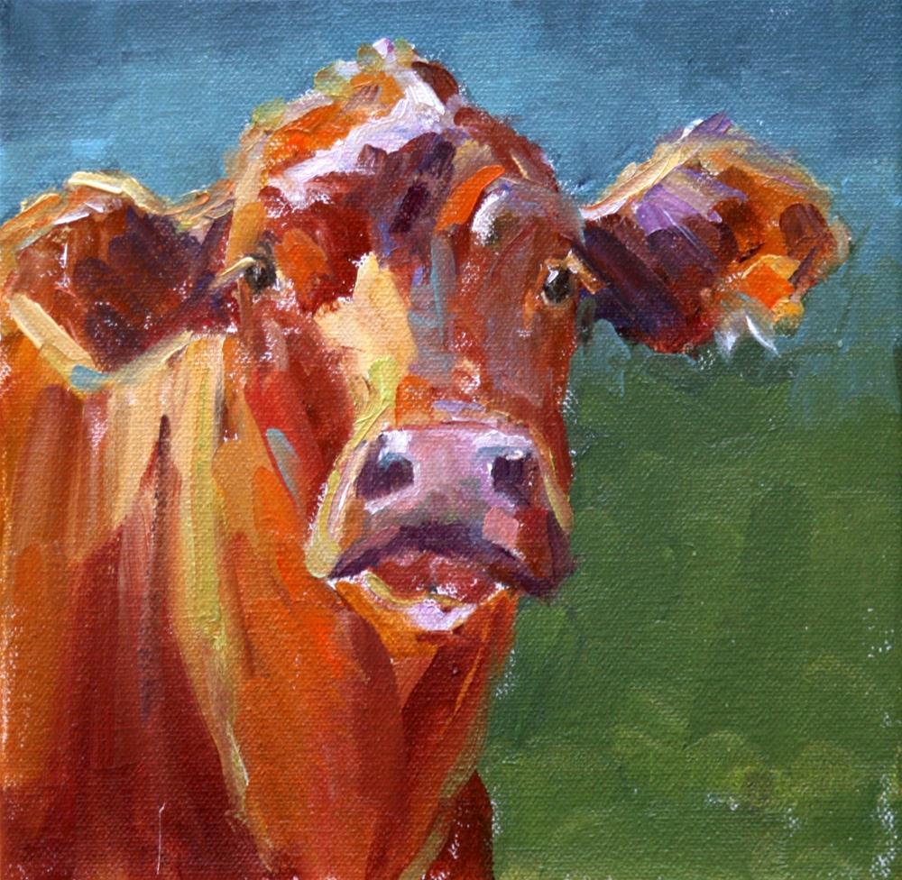 """psst....."" original fine art by Carol Carmichael"