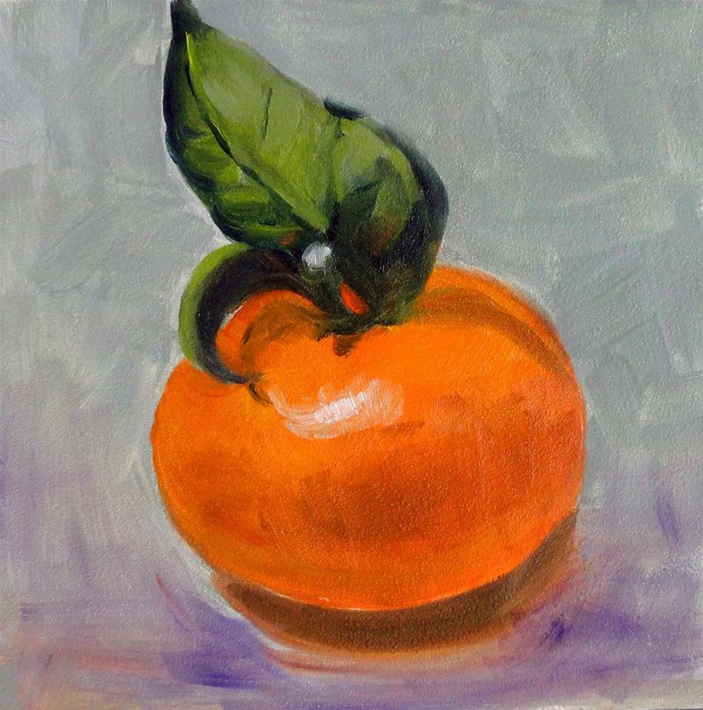 """""""Tangerine"""" original fine art by Cietha Wilson"""