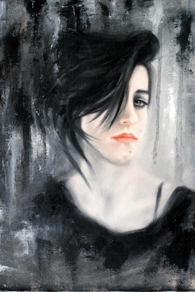 """""""Rocker Kelsey"""" original fine art by Kelly Berkey"""