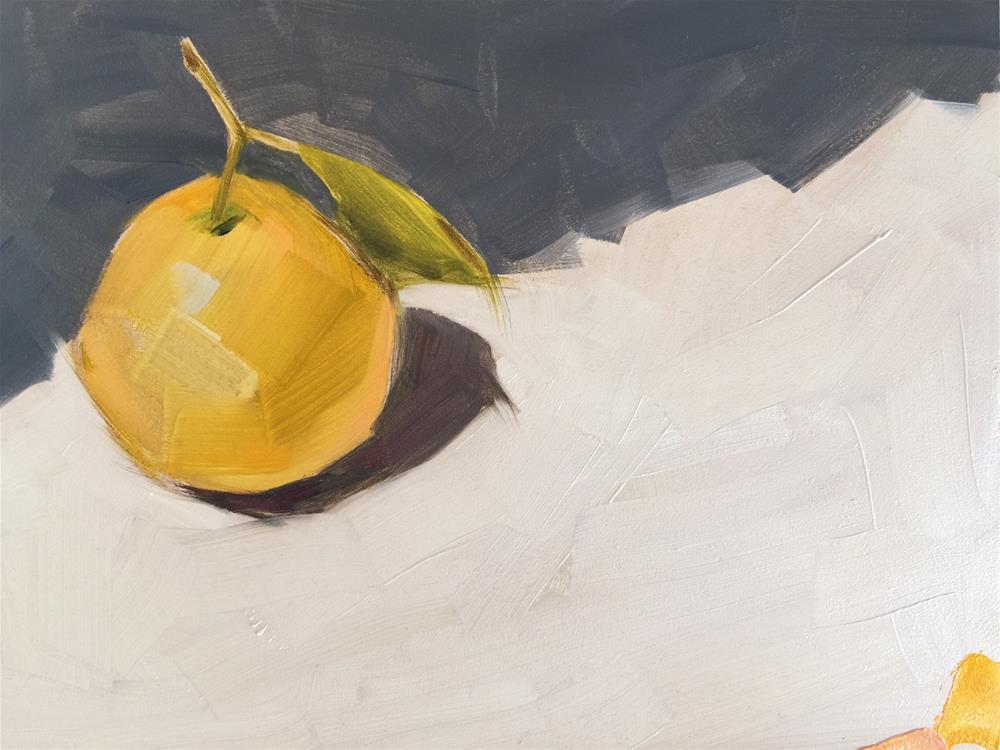 """""""218 Round Lemon"""" original fine art by Jenny Doh"""