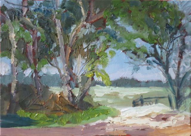 """Pasture Gate"" original fine art by Lucinda Howe"