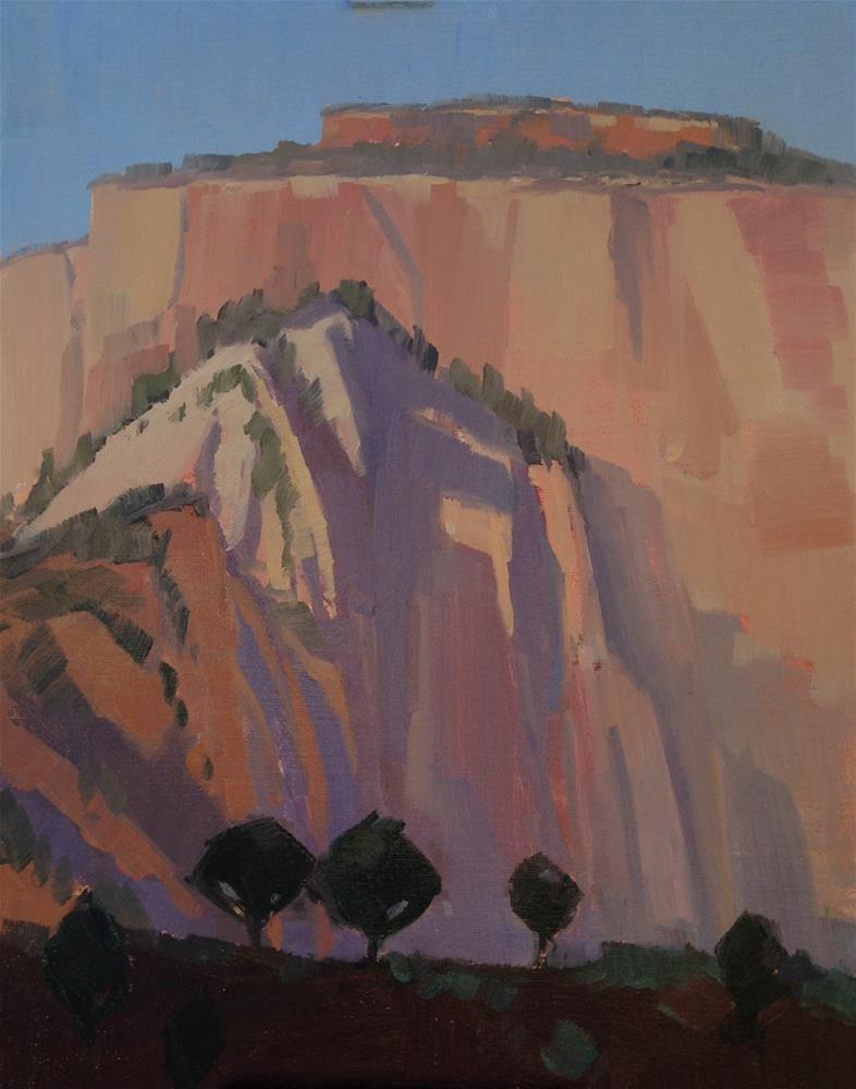 """Early Morning Light-Zion Nat'l Park"" original fine art by Mary Jabens"