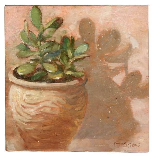"""Crásula Jade"" original fine art by Emilio López"