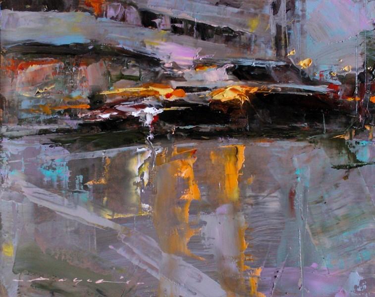 """City Traffic_009"" original fine art by Angel Angelov"