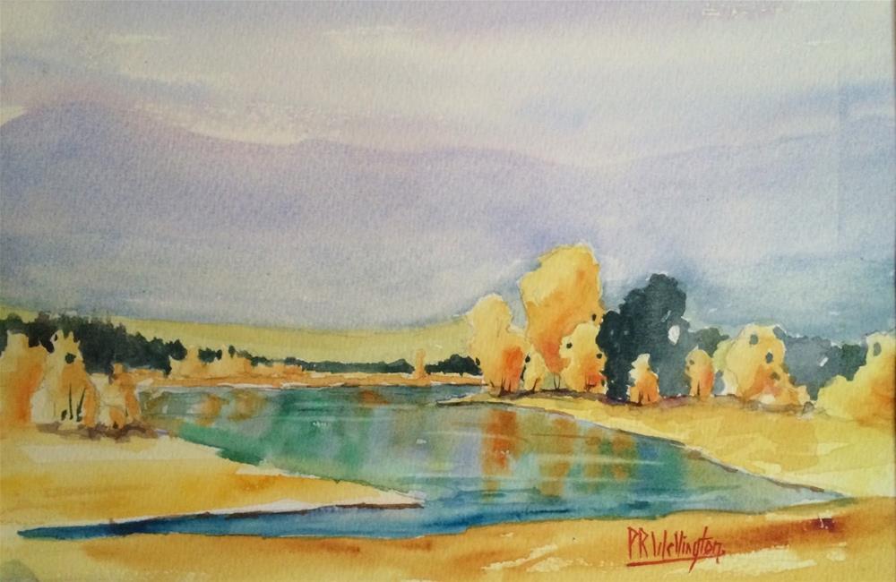 """Along the Loire"" original fine art by Peter Wellington"