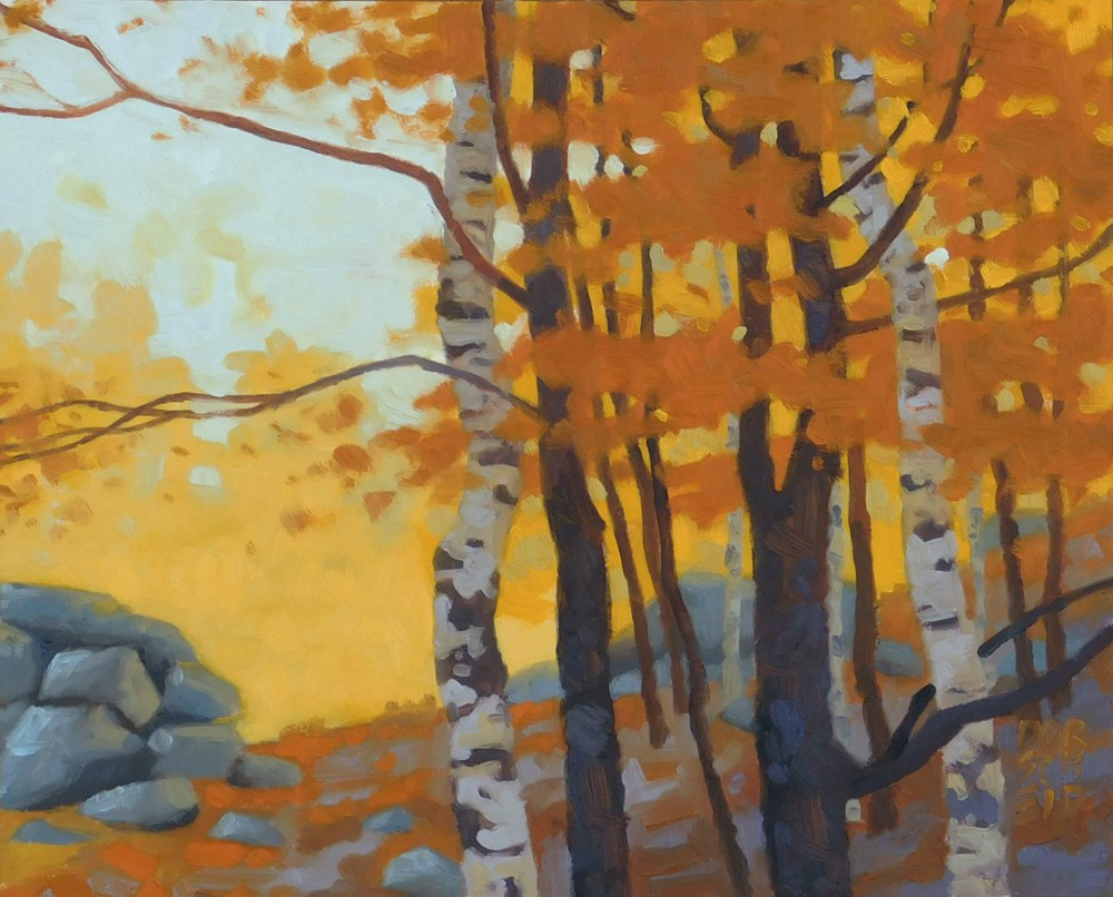 """Fall Birch"" original fine art by Les Dorscheid"