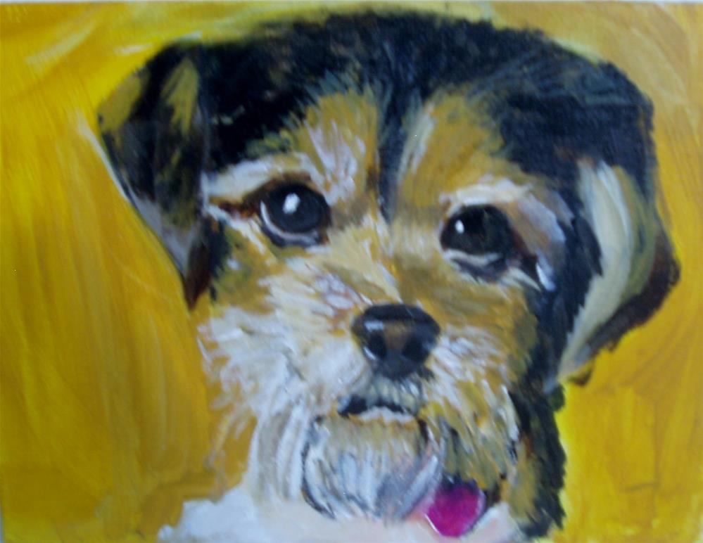 """Milo"" original fine art by Gerri Obrecht"