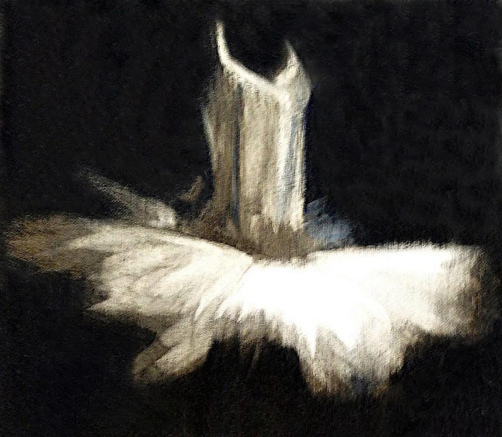 """The Tutu"" original fine art by Donna Thomas"