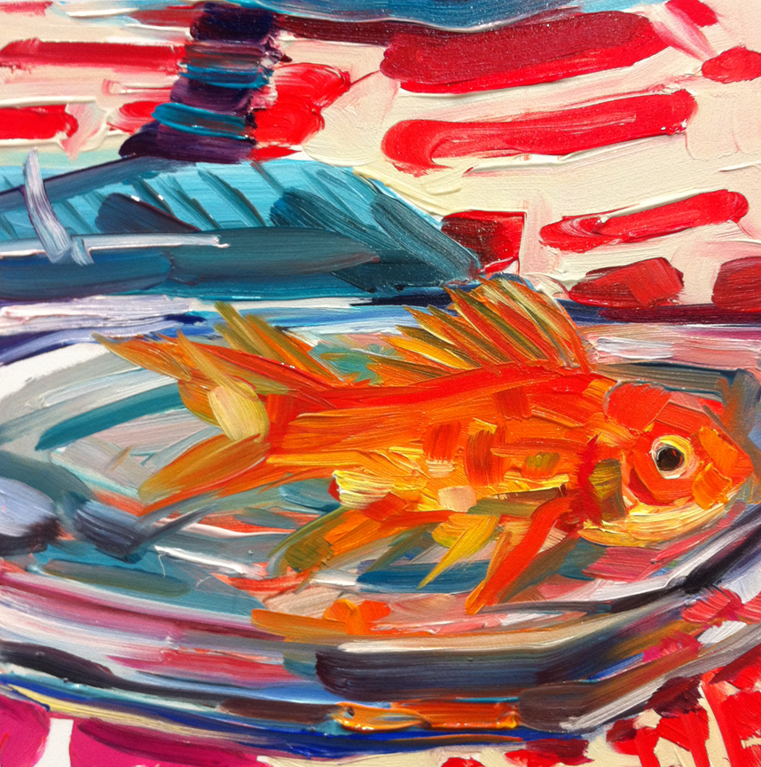 """Goldfish"" original fine art by Katy O'Connor"