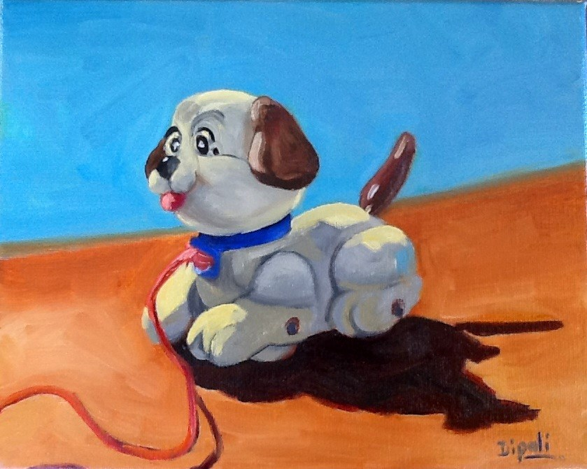 """Toy Dog"" original fine art by Dipali Rabadiya"