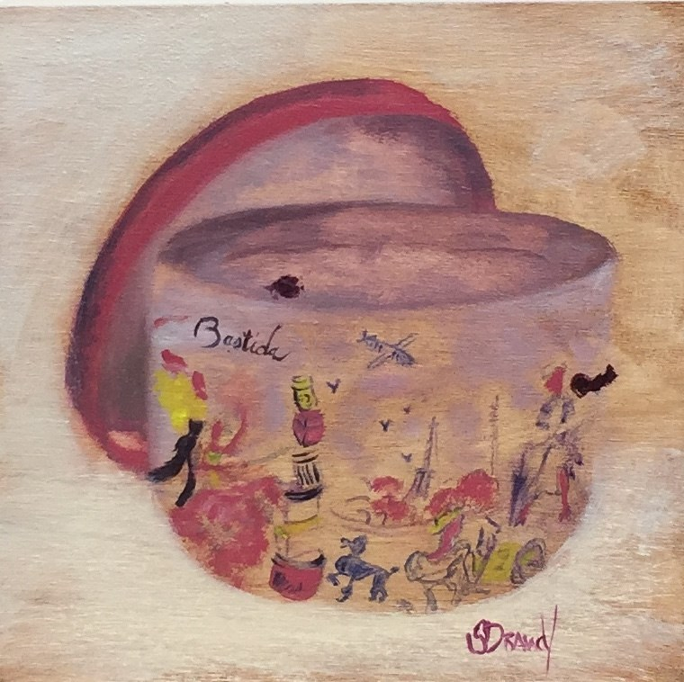 """Chapeaux Unique "" original fine art by Stephanie Drawdy"