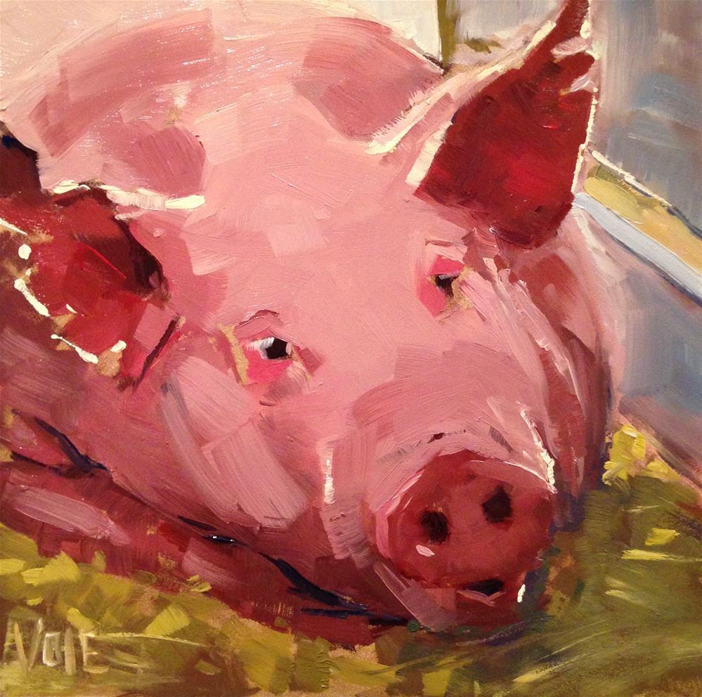 """#138 Sweet Pea"" original fine art by Patty Voje"