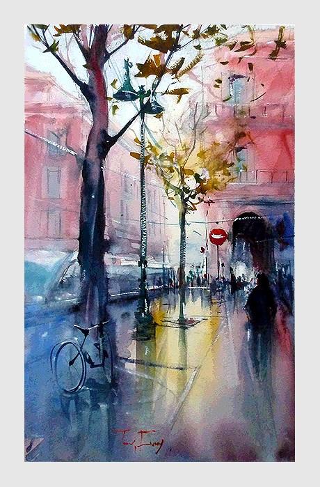 """""""Nizza, Stadt"""" original fine art by Jurij Frey"""