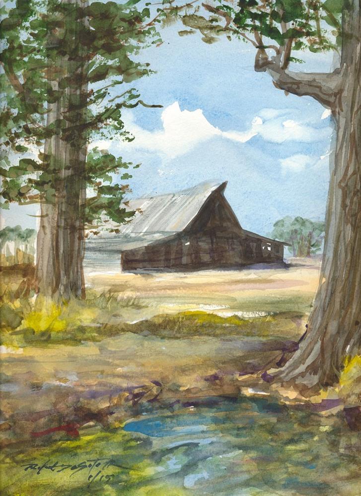"""Barn Day"" original fine art by Rafael DeSoto Jr."