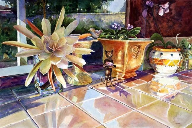 """""""Watercolor: Epiphyllum"""" original fine art by Belinda Del Pesco"""
