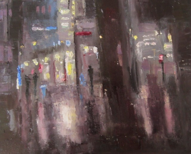 """Lights at night (Study)"" original fine art by Astrid Buchhammer"