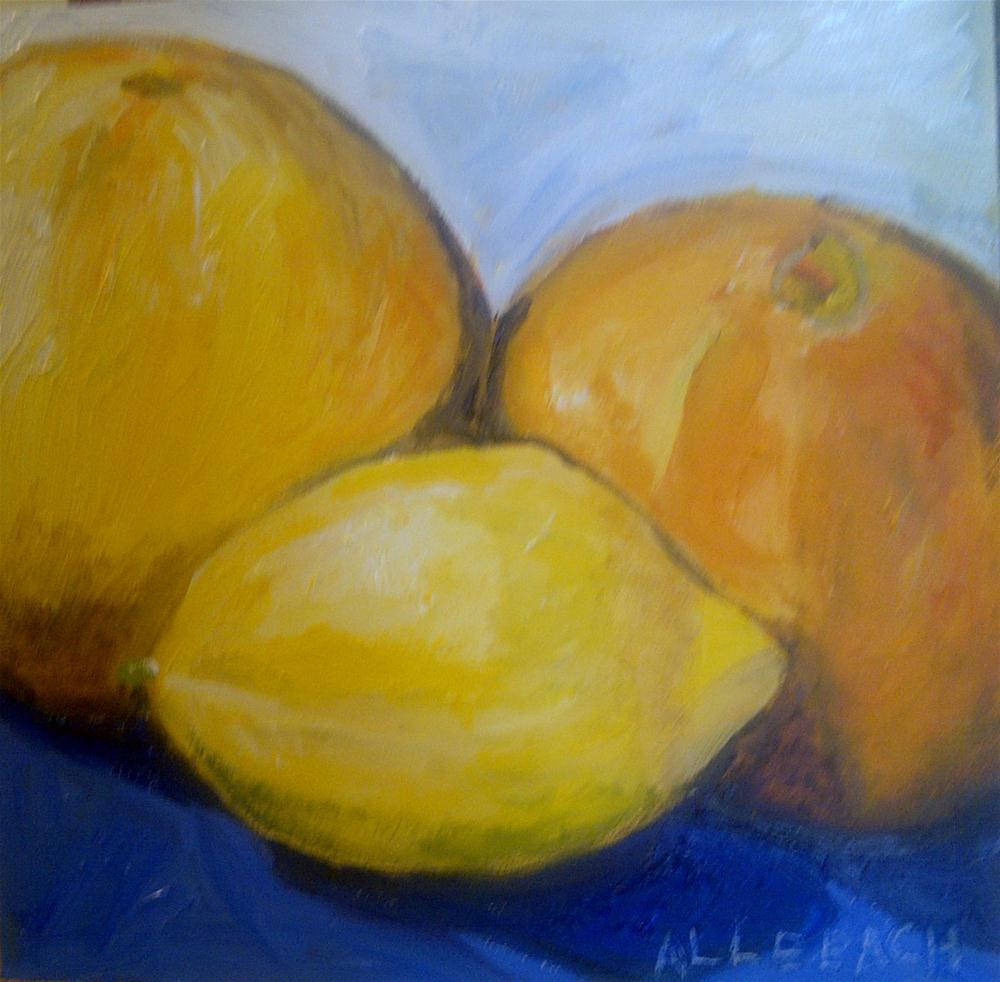 """citrus may 2012"" original fine art by Jo Allebach"