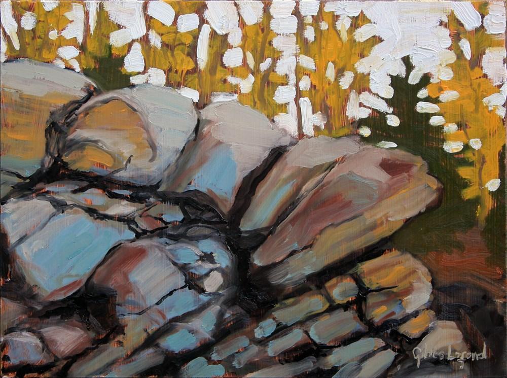 """""""Stone Cascade"""" original fine art by Gilles Lafond"""