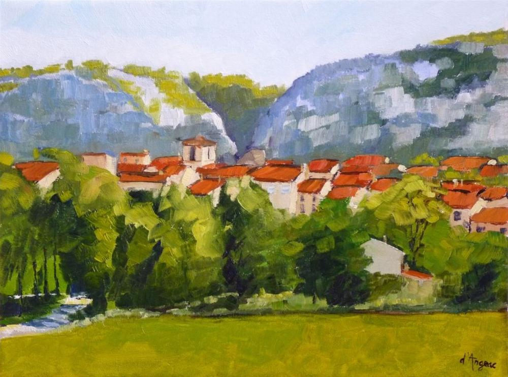"""Village in Provence II"" original fine art by Karen D'angeac Mihm"