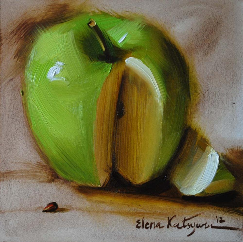 """Sliced"" original fine art by Elena Katsyura"