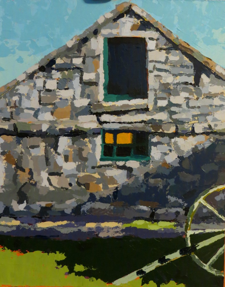 """Belmont Stone House"" original fine art by Joan Wiberg"