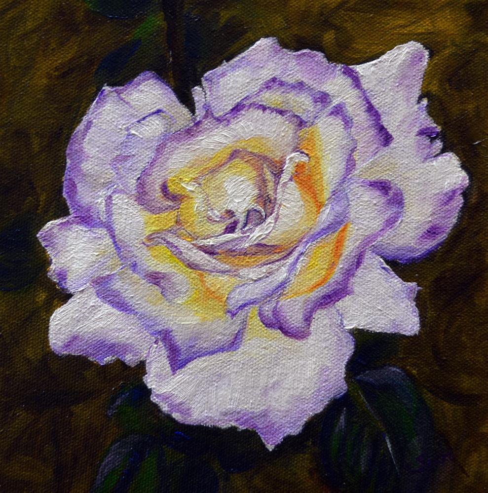 """white purple rose"" original fine art by Sun Sohovich"