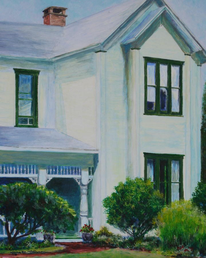 """Kings Valley Farmhouse"" original fine art by Jana Johnson"