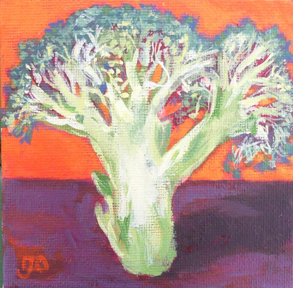 """The Broccoli Tree"" original fine art by Leanne Owen"