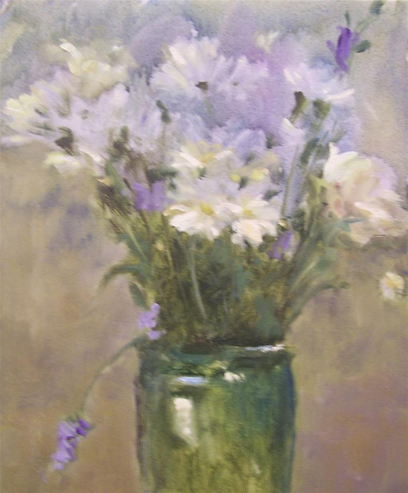 """Daisy Impressions"" original fine art by John Shave"
