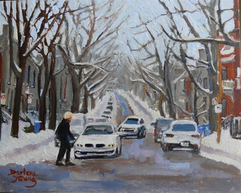 """""""963, Westmount, 8x10, oil on board"""" original fine art by Darlene Young"""