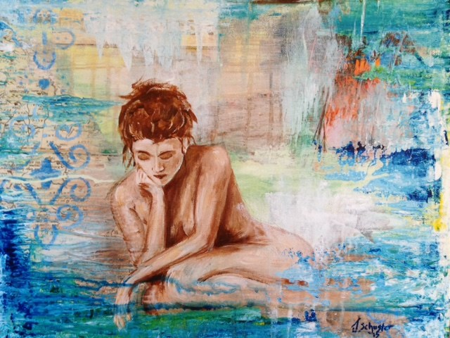 """Reflect"" original fine art by Juli Schuster"