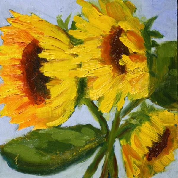 """Sunflower Surprise"" original fine art by Jane Frederick"