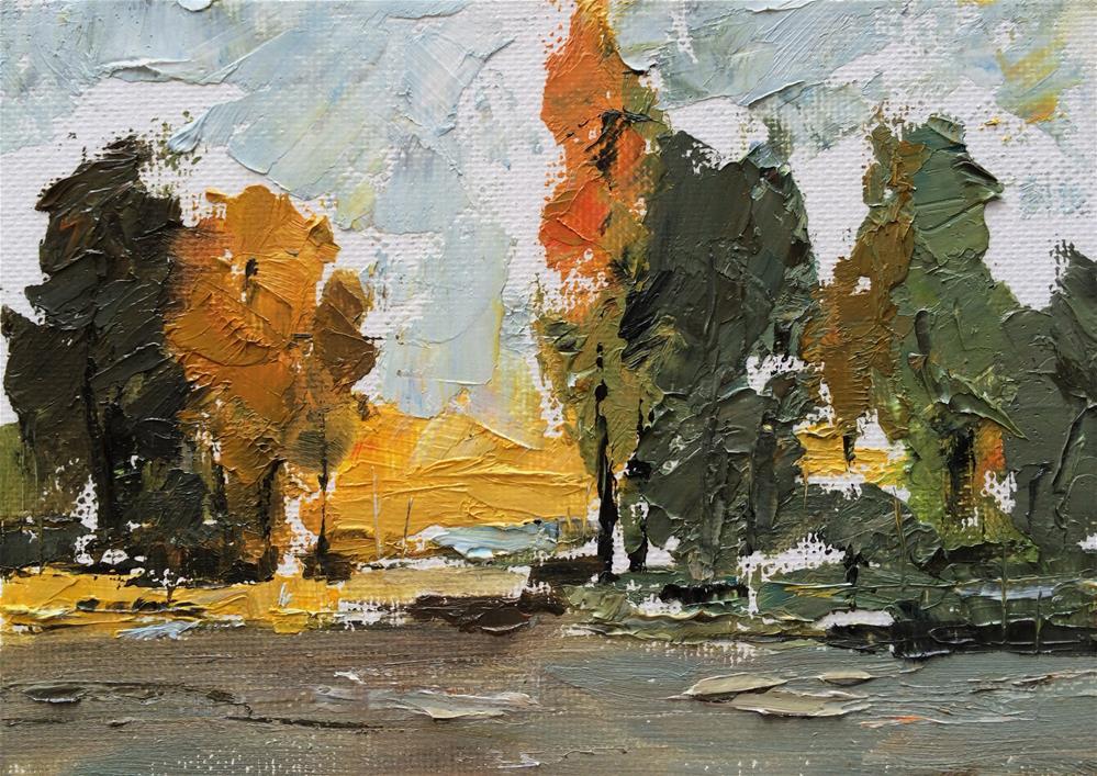 """""""Autumn 2"""" original fine art by Anny Kong"""
