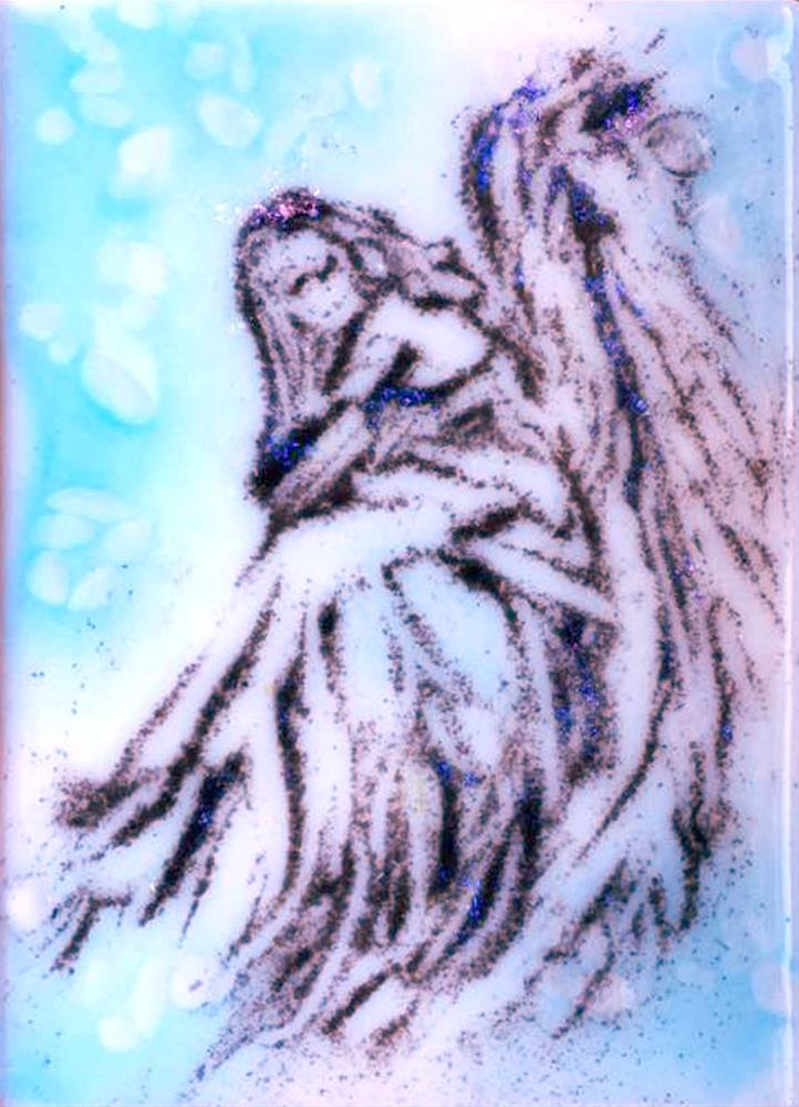 """Angel in blue"" original fine art by Kristen Dukat"