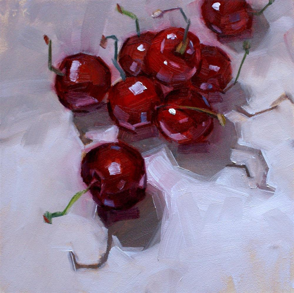 """Cherry Dance"" original fine art by Jiyoung Kim"