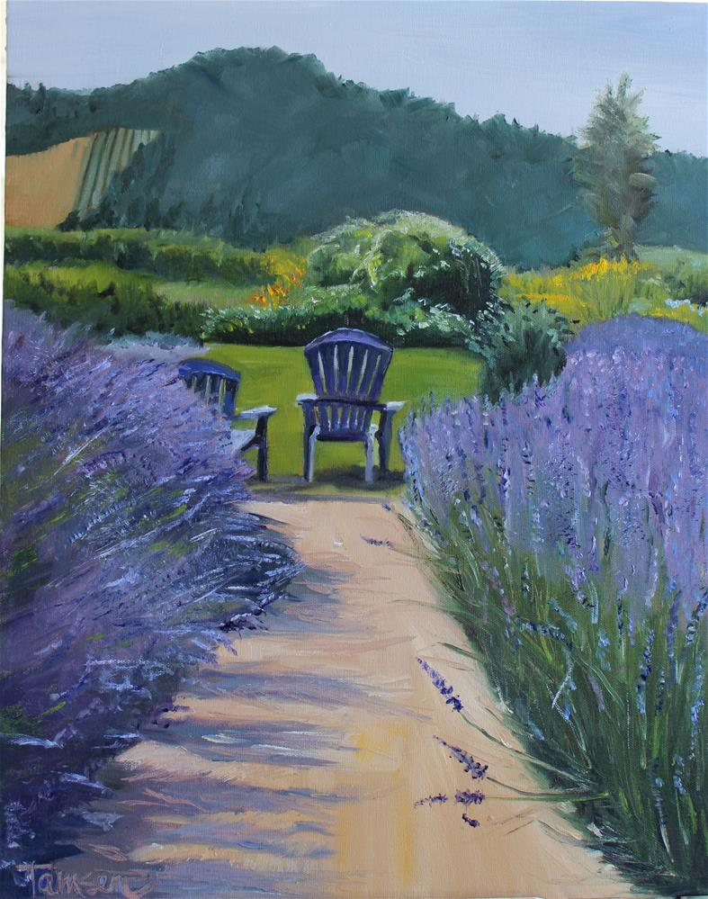 """Lavender Lane #2"" original fine art by Tamsen Armstrong"