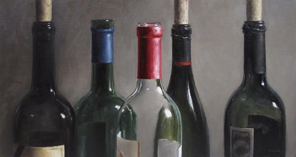"""""""Bottle Tops"""" original fine art by Michael Naples"""