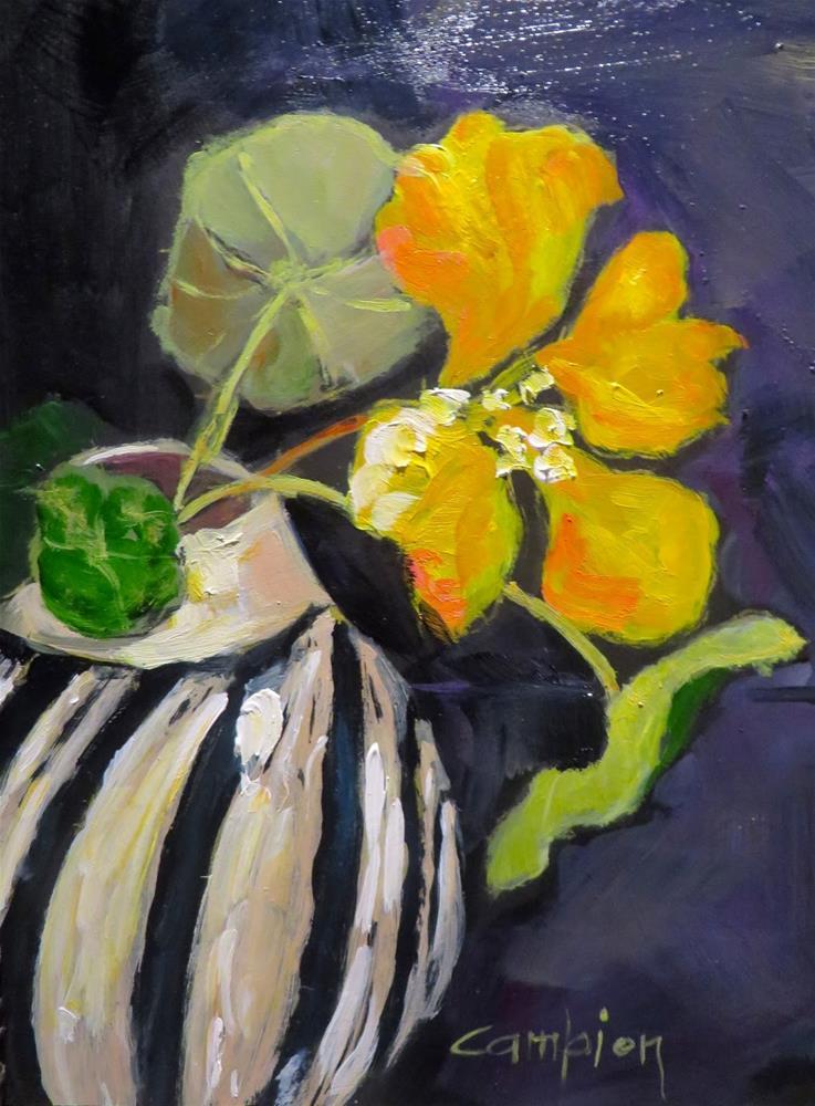 """679 The Glance"" original fine art by Diane Campion"