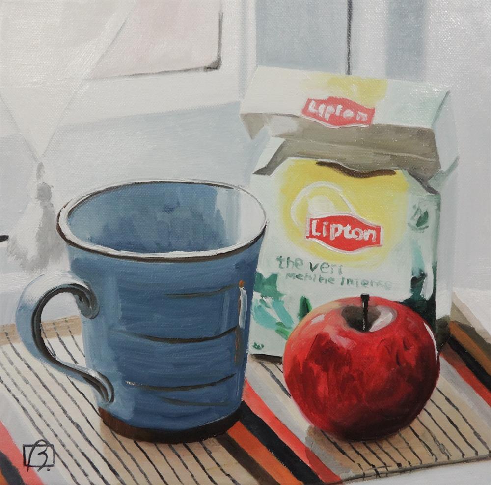 """""""Lipton Thé Vert"""" original fine art by Andre Beaulieu"""