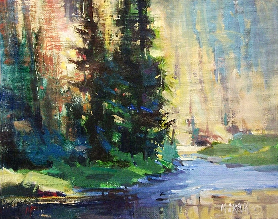 """'Round The Bend'"" original fine art by Mary Maxam"