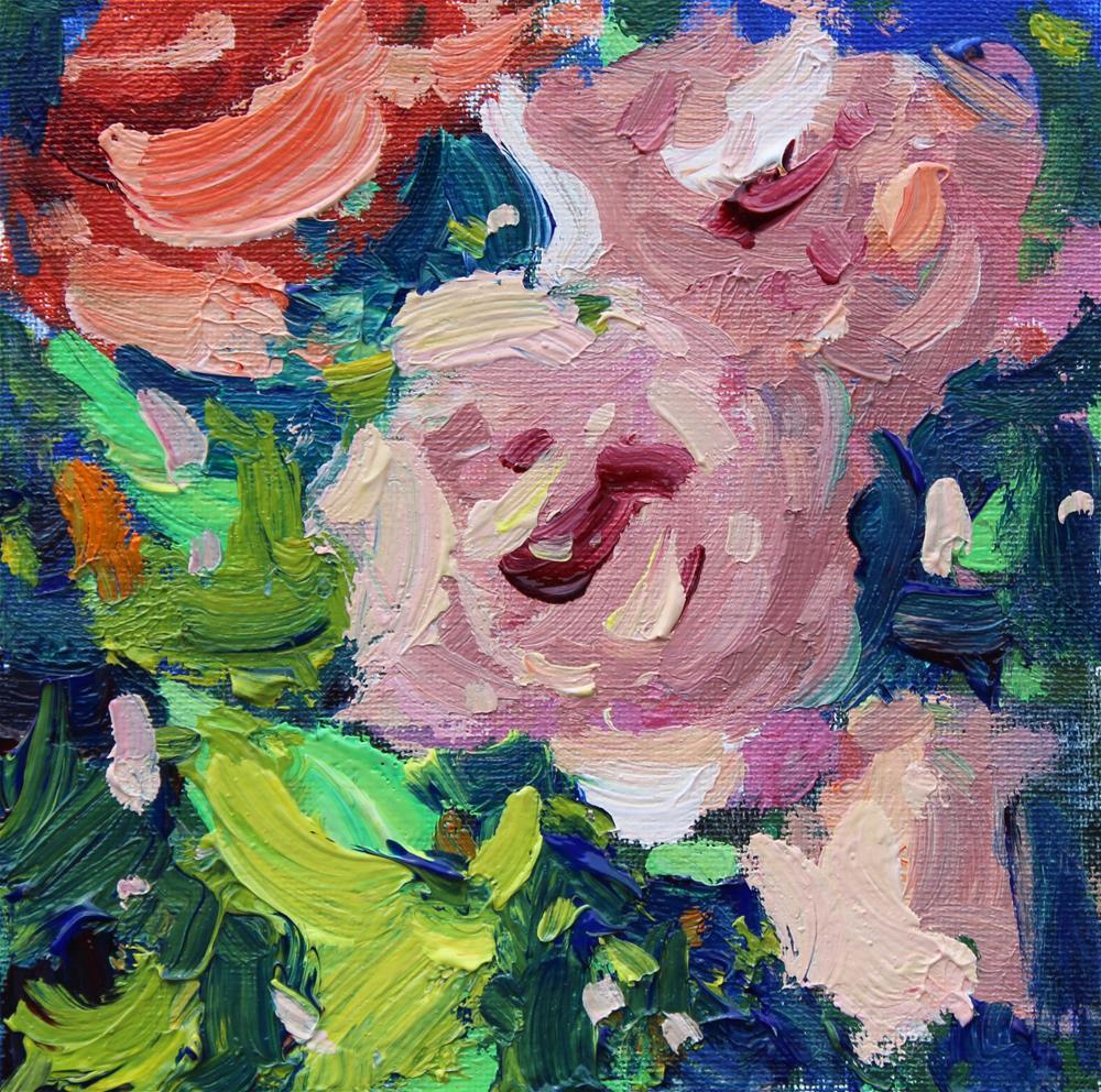 """Pink Roses "" original fine art by Michael Clark"