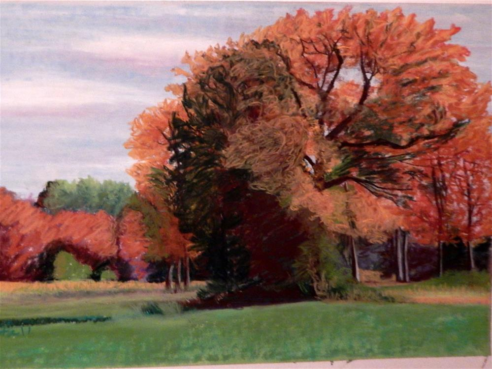 """Fall Foliage on the Farm"" original fine art by Elaine Shortall"