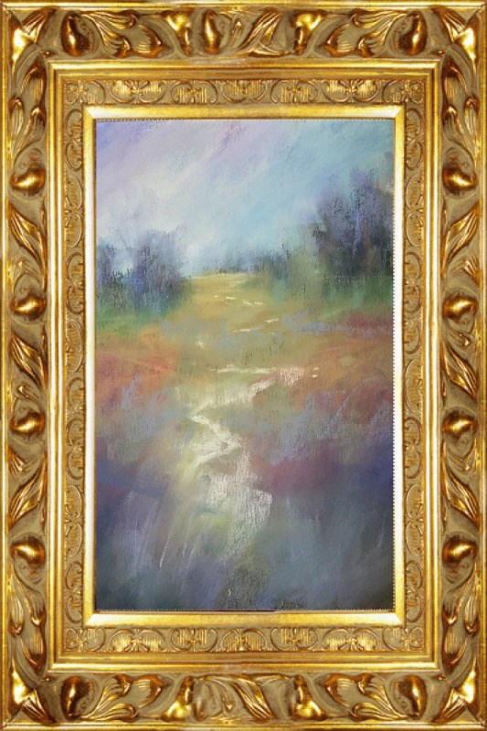 """Foggy Path"" original fine art by Leora LaGraffe"