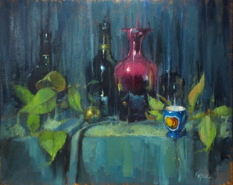 """Blue Rain"" original fine art by Dave Froude"