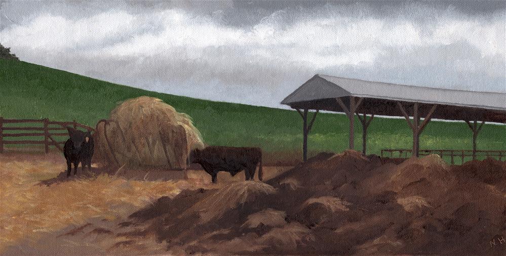 """ANDROSSAN FARM"" original fine art by Nancy Herman"