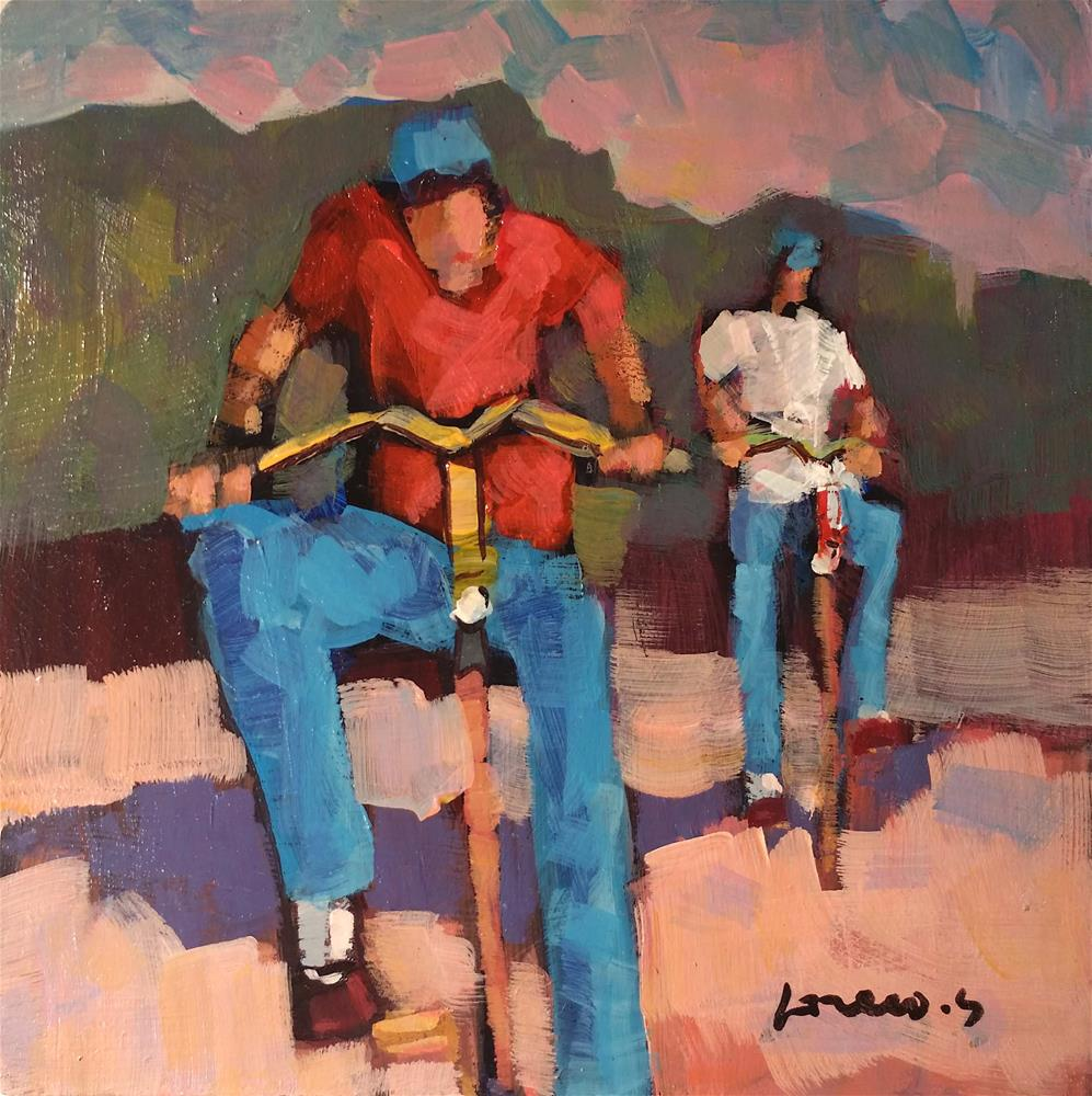 """bicycles #3"" original fine art by salvatore greco"