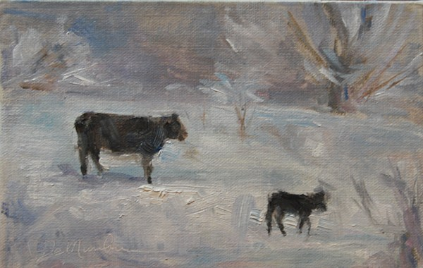 """Day 4- Winter Morn"" original fine art by Carol DeMumbrum"