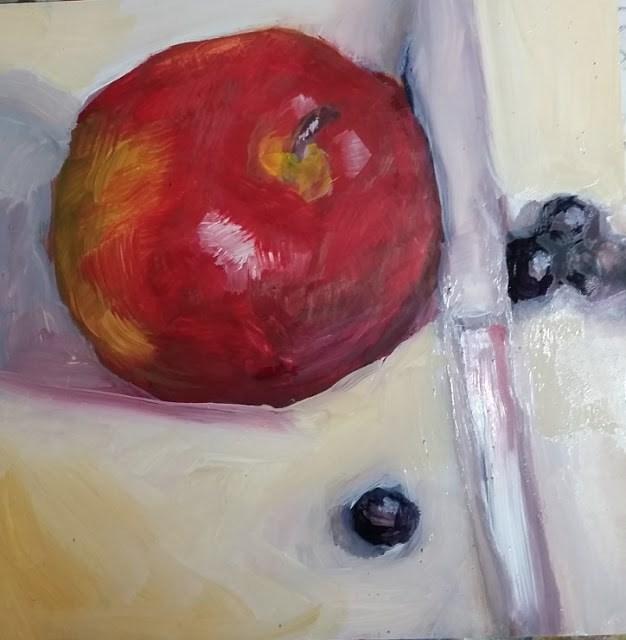 """An Apple and Company"" original fine art by Wendy Starita"