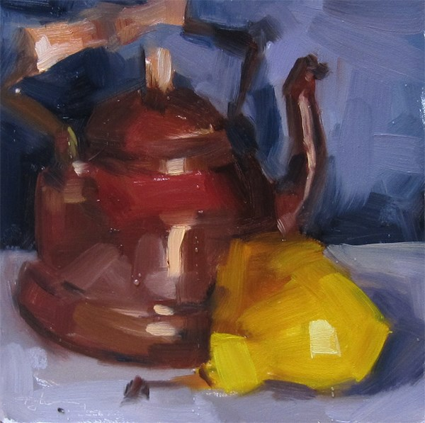"""Copper Kettle"" original fine art by Katia Kyte"