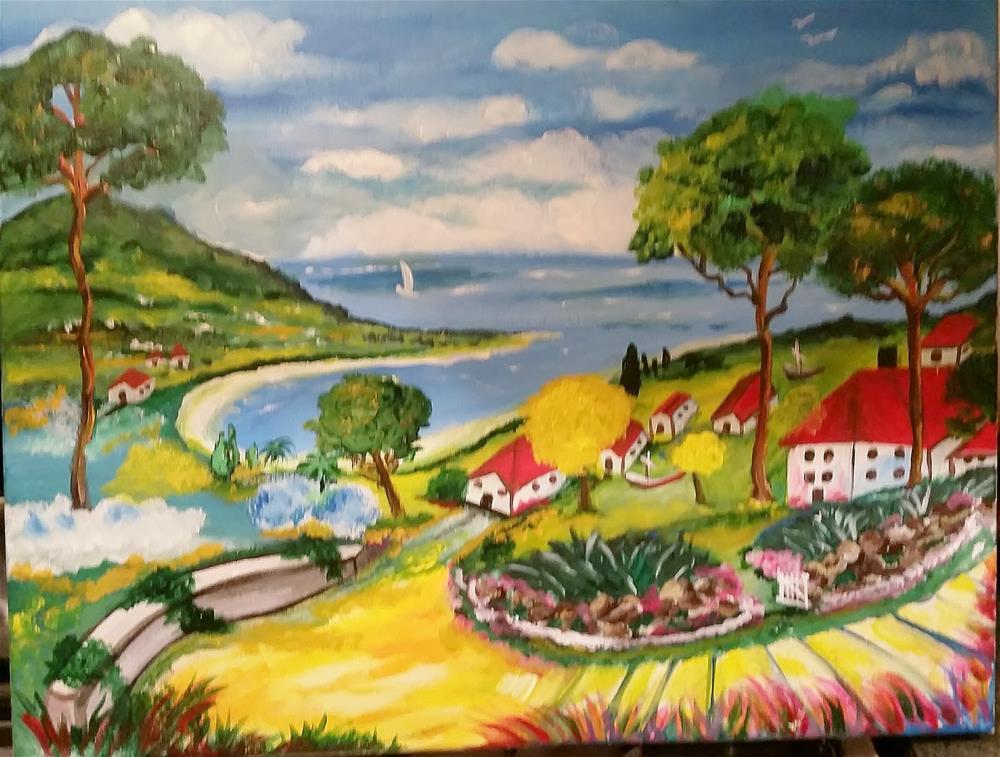 """Take It Easy"" original fine art by Susan Belisle"